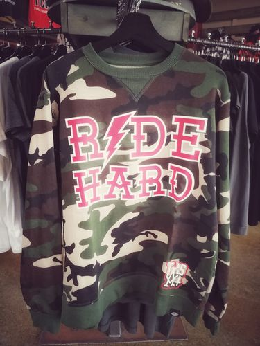 LuckyAki's & Dickies RIDE HARD Camouflage College