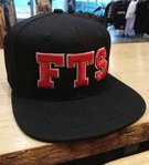 LuckyAki's 3D Embroidered FTS Black Snapback