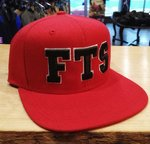 LuckyAki's 3D Embroidered Red FTS Snapback