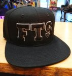 LuckyAki's 3D Embroidered Black & White FTS Snapback