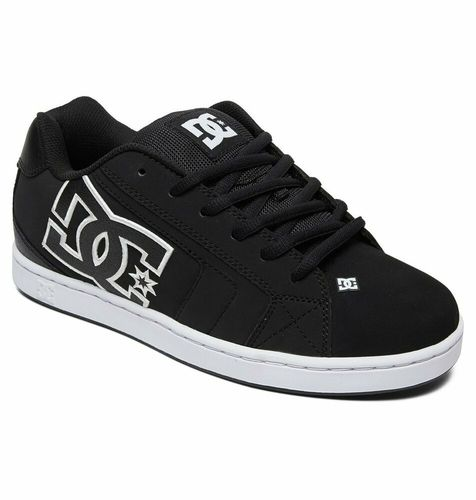 DC NET BLACK / BLACK / WHITE SHOES