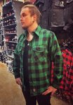 LuckyAki's Green Flanel Shirt