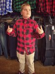 LuckyAki's KIDS RED Flannel