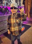 LuckyAki's Kids Brown Flanel